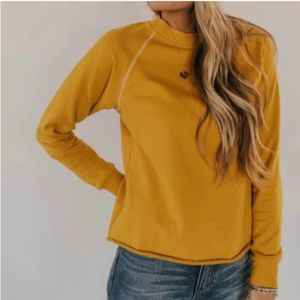 Roolee Mapleton Pullover in Mustard Yellow